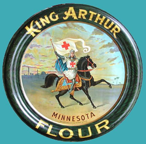 Vintage King Arthur flour logo